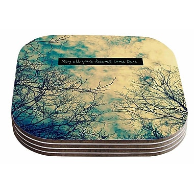 East Urban Home Robin Dickinson 'May All Your Dreams Come True' Nature Coaster (Set of 4)