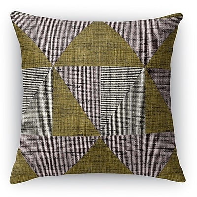 Ivy Bronx Austin Textured Throw Pillow; 16'' H x 16'' W x 6'' D