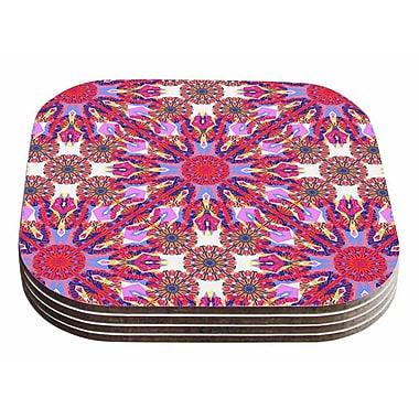 East Urban Home Miranda Mol 'Kaleidoscopic Floral' Coaster (Set of 4)