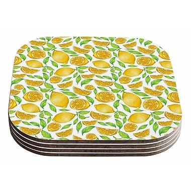East Urban Home Alisa Drukman 'Lemons' Floral Coaster (Set of 4)