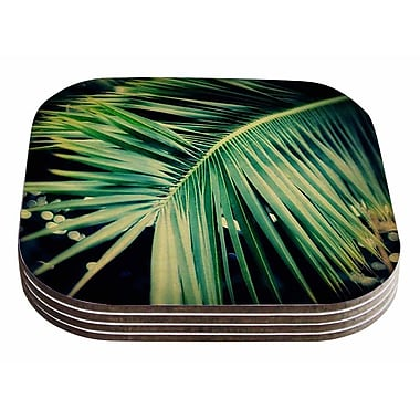 East Urban Home Angie Turner 'Palm Frond' Nature Coaster (Set of 4)