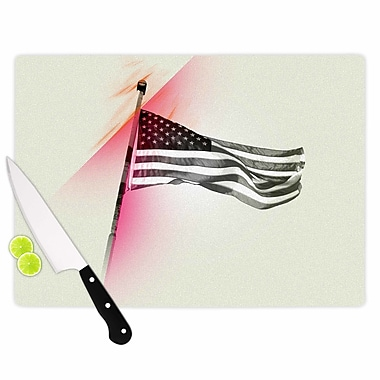 East Urban Home Just L Glass 'Capture the Flag' Cutting Board; 0.25'' H x 15.75'' W x 11.5'' D