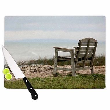 East Urban Home Angie Turner Glass 'Beach Bench' Cutting Board; 0.25'' H x 11.5'' W x 8.25'' D