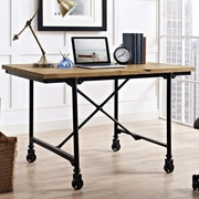 17 Stories Braxten Raise Wood Office Desk