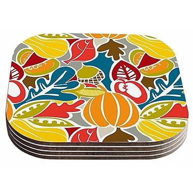 East Urban Home Agnes Schugardt 'Fall Harvest' Food Coaster (Set of 4)