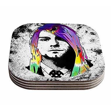 East Urban Home Ivan Joh 'Grunge' Pop Art Lavender Coaster (Set of 4)