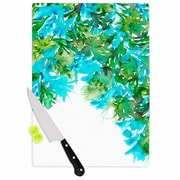 East Urban Home Ebi Emporium Glass 'Floral Cascade 8' Cutting Board; 0.25'' H x 11.5'' W x 8.25'' D