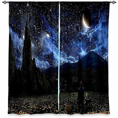 Loon Peak Cannon Alex Ruiz's Starry Night Room Darkening Curtain Panels (Set of 2); 40'' W x 82'' L