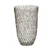Brayden Studio Silver Iron Floor Vase
