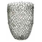 Brayden Studio Silver Iron Table Vase