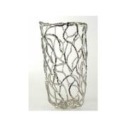 Brayden Studio Lattice Aluminum Floor Vase