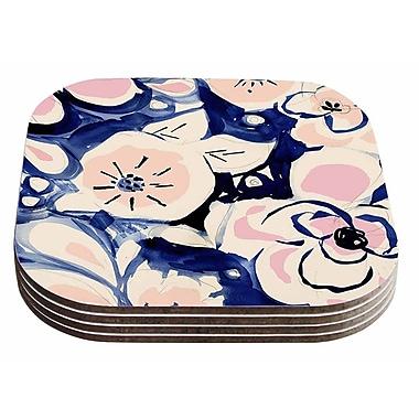 East Urban Home Crystal Walen 'Midnight Moon Flower' Coaster (Set of 4)