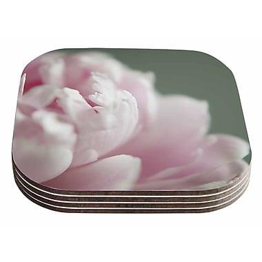 East Urban Home Cristina Mitchell 'A Single Peony' Floral Photography Coaster (Set of 4)