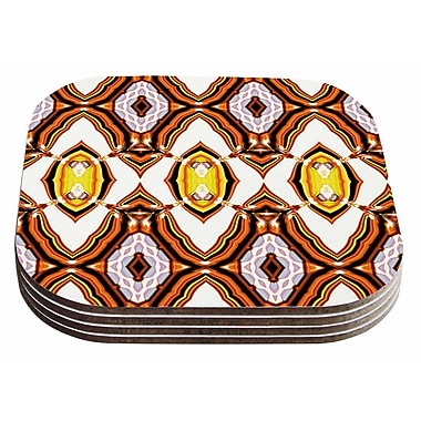 East Urban Home Dawid Roc 'Inspired By Psychedelic Art 1' Coaster (Set of 4)