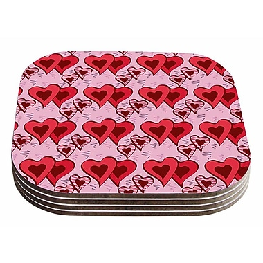 East Urban Home Mydeas 'Scribbled Hearts' Vector Coaster (Set of 4)