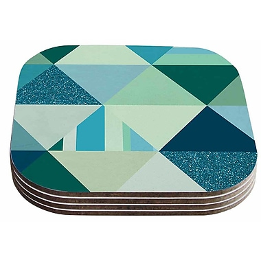 East Urban Home Noonday Design 'The Triangle Blues' Geometric Coaster (Set of 4)