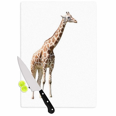 East Urban Home Sylvia Coomes Glass 'Giraffe Animals Photography' Cutting Board