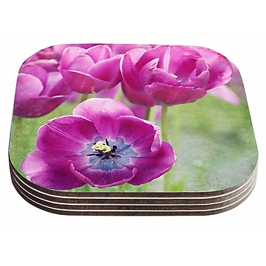 East Urban Home Sylvia Cook 'Tulips' Photography Coaster (Set of 4)