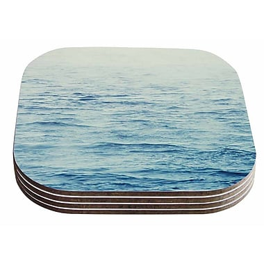 East Urban Home Debbra Obertanec 'Foggy Morning Ocean' Coastal Coaster (Set of 4)