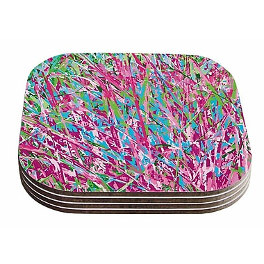 East Urban Home Empire Ruhl 'Spring Grass Abstract' Coaster (Set of 4)