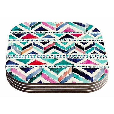 East Urban Home Crystal Walen 'Celestial Tribal Stripe' Chevron Coaster (Set of 4)