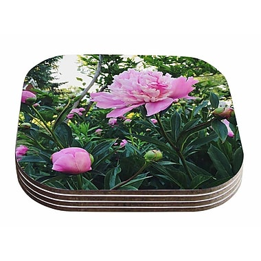 East Urban Home Chelsea Victoria 'Peonies' Floral Coaster (Set of 4)