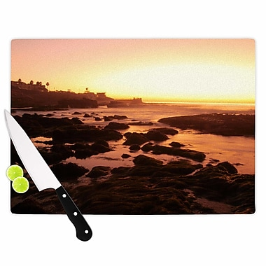 East Urban Home Nick Nareshni Glass 'Rocks of La Jolla Sunset' Cutting Board