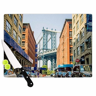 East Urban Home Juan Paolo Glass 'DUMBO Photography' Cutting Board; 0.25'' H x 11.5'' W x 8.25'' D