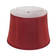 Alcott Hill 16'' White Linen Lamp Shade; Merlot