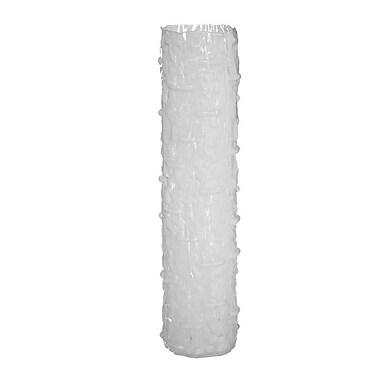 Brayden Studio Tree Trunk Shaped Glass Floor Vase; 32'' H x 7.5'' W x 7.5'' D