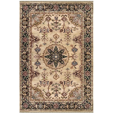 Darby Home Co Bearer Hand-Tufted Beige/Antique Ivory Area Rug; 7'6'' x 9'6''