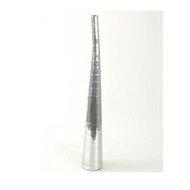 Orren Ellis Bottle Silver Aluminium Floor Vase; 40'' H x 4.5'' W x 4.5'' D