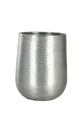 Orren Ellis Hammered Matte Aluminum Table Vase; 12.5'' H x 9'' W x 9'' D