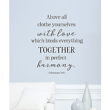 Belvedere Designs LLC Love Binds Everything Together Wall Quotes Decal
