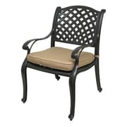 Darby Home Co Beadle Dining Arm Chair w/ Cushion (Set of 2)