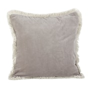 Alcott Hill Fenimore Fringe Trim Traditional Cotton Throw Pillow