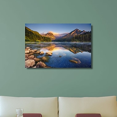 Loon Peak 'Clouds Collide into Mountain Face' Photographic Print on Wrapped Canvas