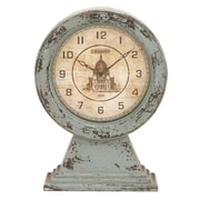 One Allium Way Old World Charm Rustic St. Paul's Cathedral Table Clock