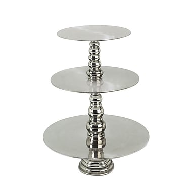 Orren Ellis Francis Silver Three Tiered Cake Stand