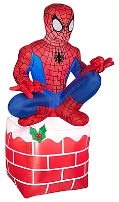 The Holiday Aisle Airblown Inflatables Christmas Holiday Spider Man on Chimney Decoration WYF078281281152