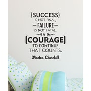Belvedere Designs LLC Courage Counts Churchill Quotes  Wall Decal