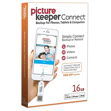 LEI Picture Keeper Connect for Apple, 16GB Photo Backup (PKCA16GBWW2)
