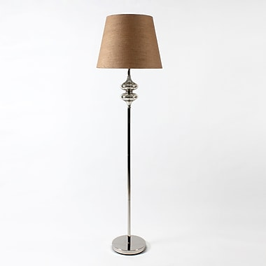 Nature Shade with2 Tear Drop Gls Floor Lamp, 17.75