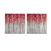 """Red Tree Oil Painting, 28"""" x 1.5"""" x 28, 2/Pack (0073-WX3909-S2)"""