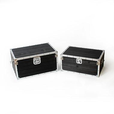 Yoona Blk Rectangular Storage Trunk, 2/Pack (1134-WX1866-S2)