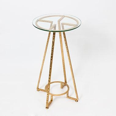 Nina ? Table d?appoint avec dessus en verre, or (1139-TX8403-00)