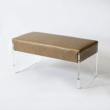 Acrylic Panel Double Bench, Champagne (1318-TX7383-00)