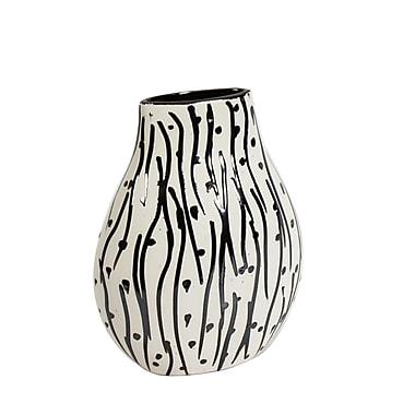 Maribo 9.5 Black Stripe with Dot Vase (2310-WX4617-00)