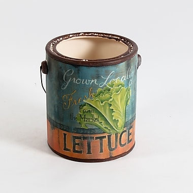 Lettuce Ceramic Pail, Large, 6.7