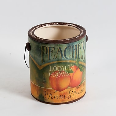 Peaches Ceramic Pail, Large, 6.7